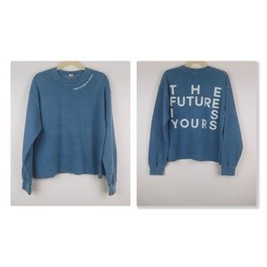 UO The Future is Is Yours Oversized Sweatshirt M